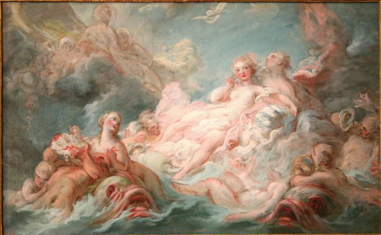 TheBirthofVenus, 1753 - 1755 - Jean-Honore Fragonard