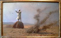 Arab Frightening Larks Away (unfinished) - Jean-Léon Gérôme