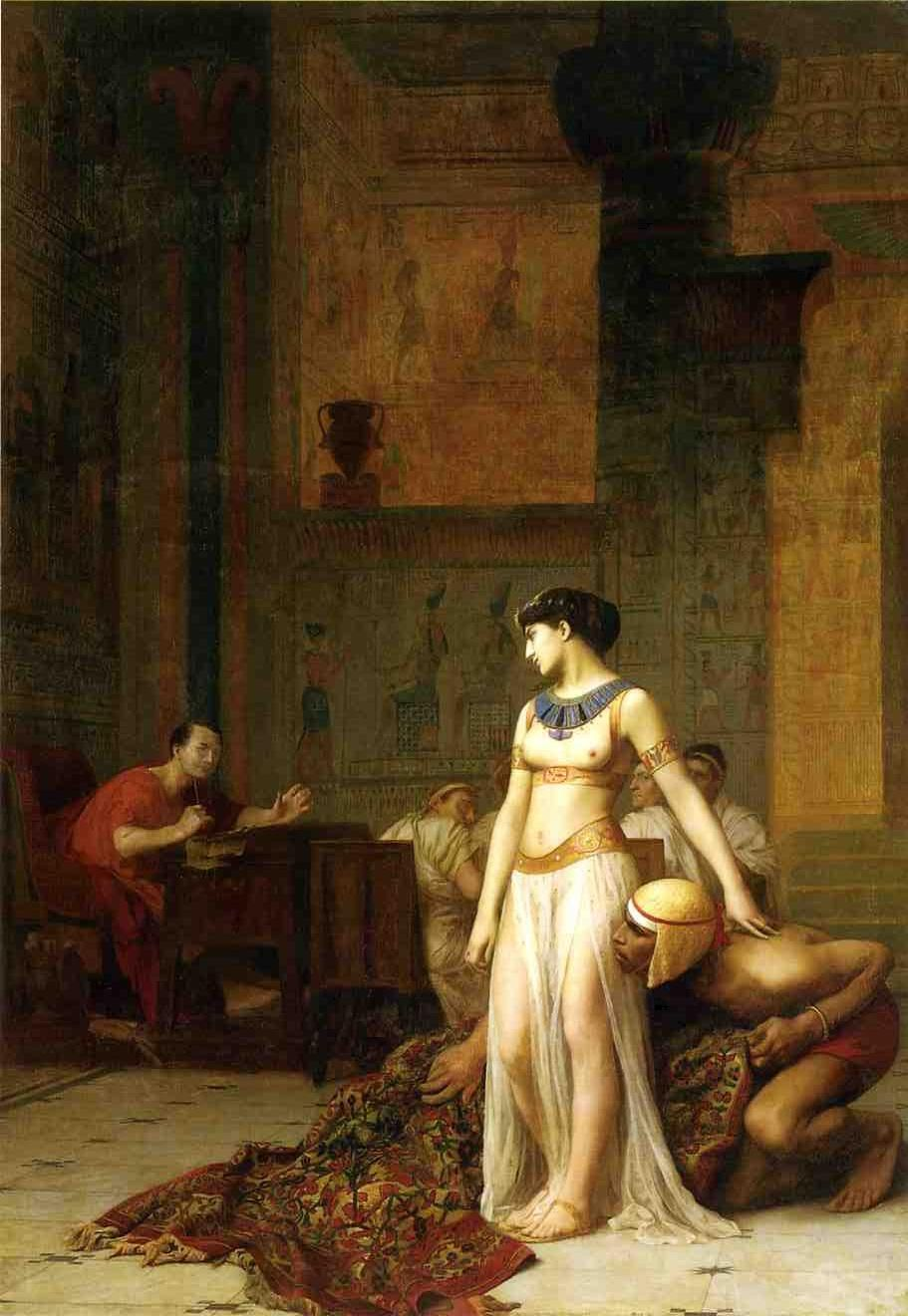http://uploads7.wikipaintings.org/images/jean-leon-gerome/cleopatra-and-caesar.jpg