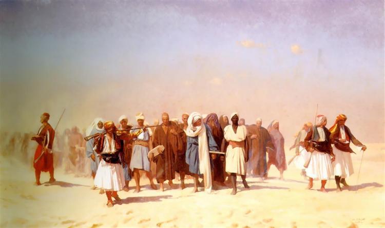 Los reclutas egipcios Cruzando el desierto - Gérôme Jean-León
