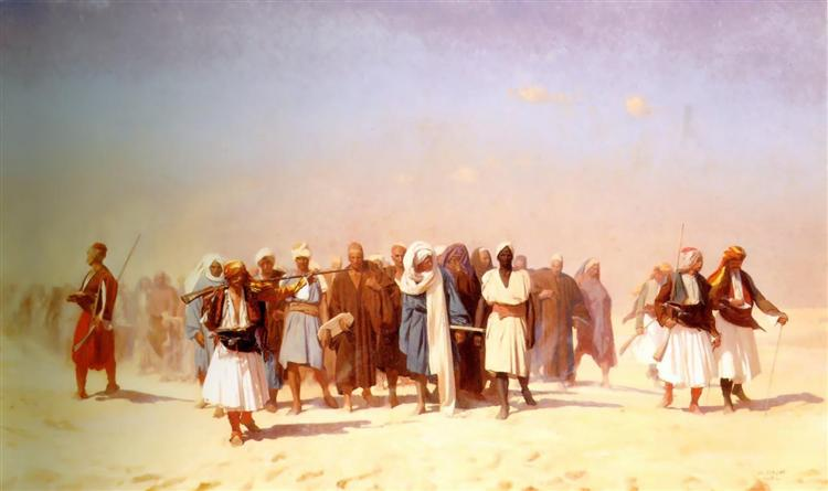 Egyptian Recruits Crossing the Desert, 1857 - Jean-Leon Gerome
