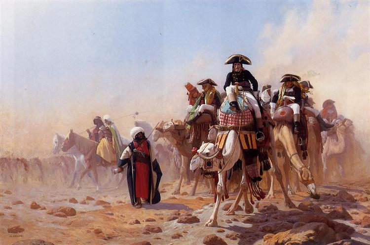 General Bonaparte with his Military Staff in Egypt, 1863 - Jean-Leon Gerome