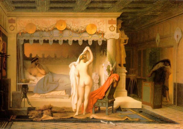 King Candaules of Lydia, 1858 - Jean-Leon Gerome