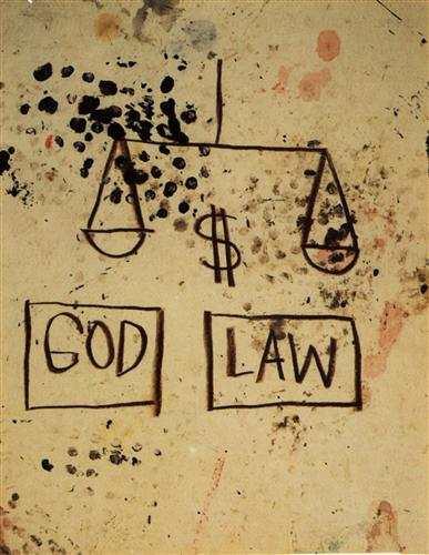 God, Law - Jean-Michel Basquiat