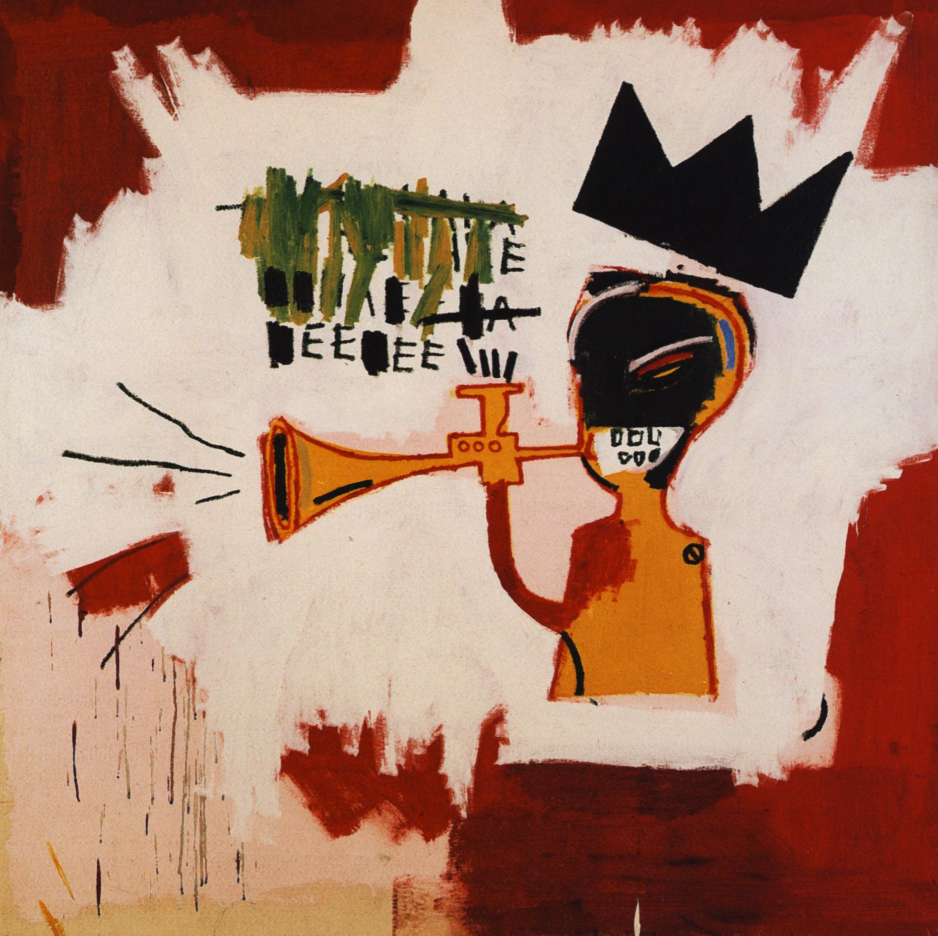 Jean michel basquiat crown painting