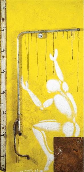 Palissade jaune, 1988 - Jérôme Mesnager
