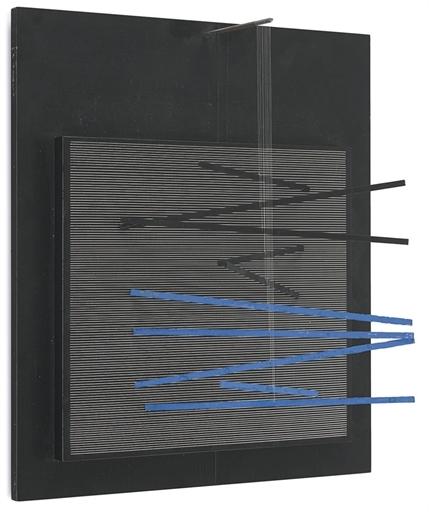incline Blue et Noire, 1966 - Jesús Rafael Soto