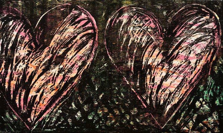 Two Hearts in a Forest, 1981 - Jim Dine