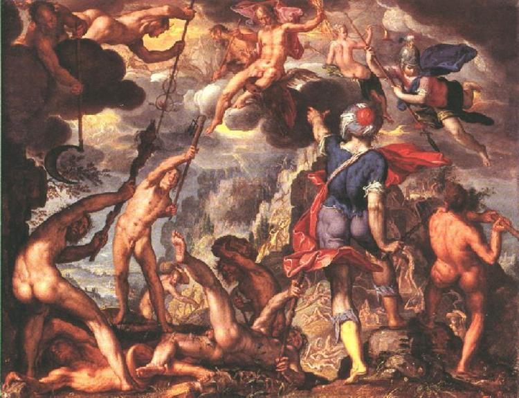 The Battle Between the Gods and the Titans, 1600 - Joachim Wtewael