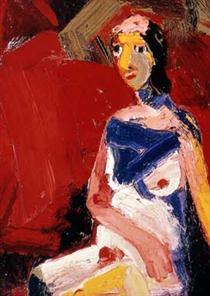 Girl Sitting - Joan Brown