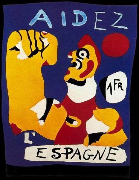 Aidez l'Espagne (Help Spain), 1937 - Joan Miro