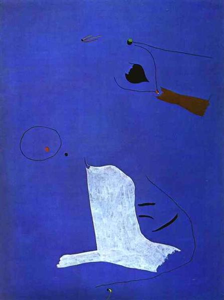 Painting, 1927 - Joan Miro - WikiArt.org | 447 x 600 jpeg 22kB