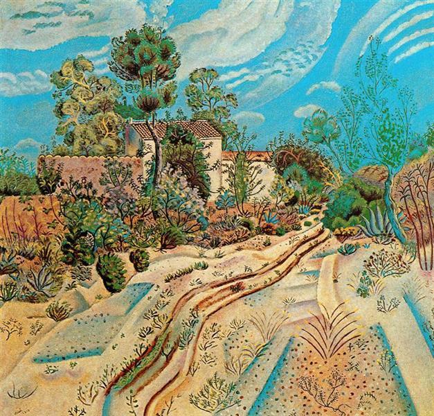 The Waggon Tracks, 1918 - Joan Miro