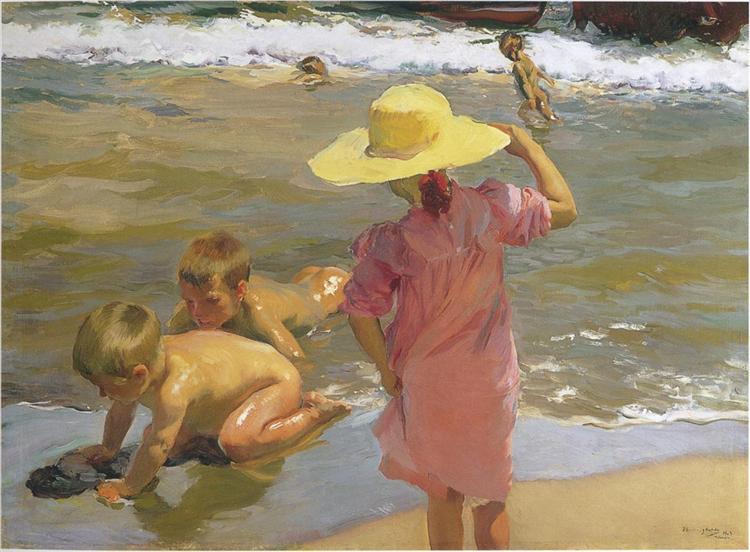 Children on the seashore, 1903 - Joaquín Sorolla