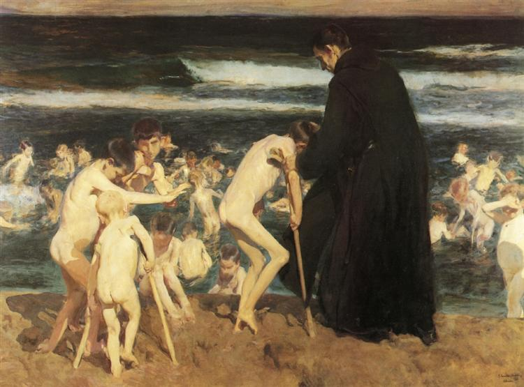 Sad Inheritance - Joaquín Sorolla