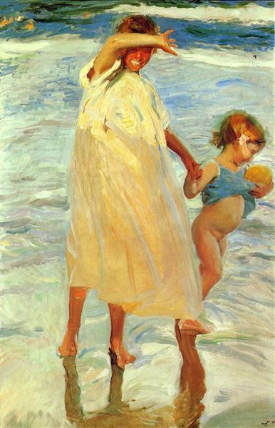 The two sisters, 1909 - Joaquín Sorolla