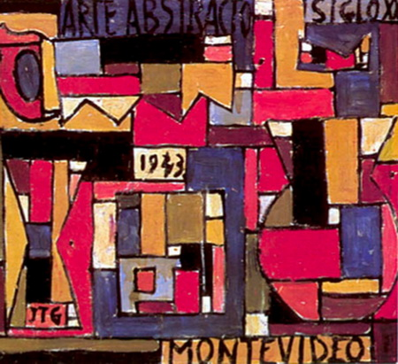 Abstract Art in Five Tones and Complementaries, 1943 - Хоакін Торрес Гарсія