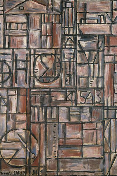 Structure, 1931 - Joaquín Torres García
