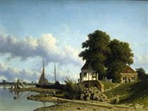 At Elshout Sun - Johan Hendrik Weissenbruch