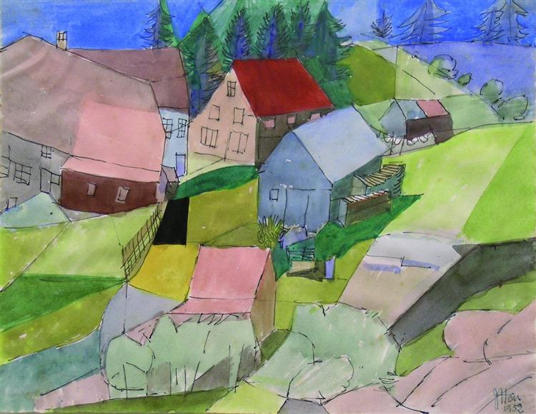 Häuser im Schwarzwald - Johannes Itten
