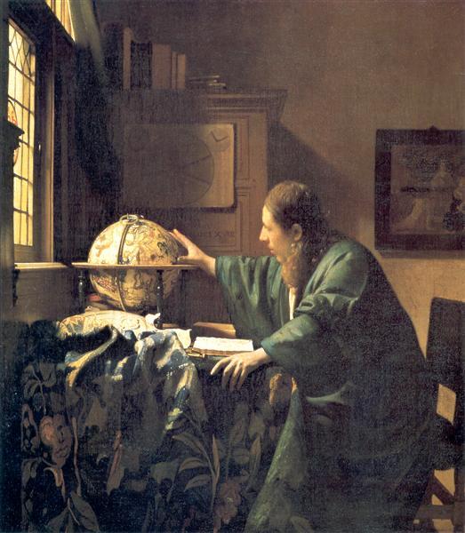 The astronomer, 1668 - Johannes Vermeer