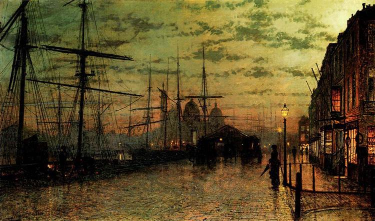 Humber Docks, Hull, 1884 - John Atkinson Grimshaw