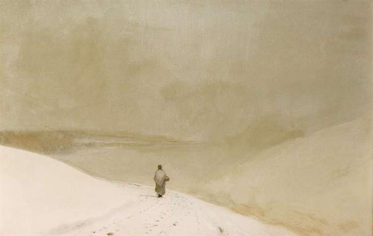 Snow and mist - John Atkinson Grimshaw