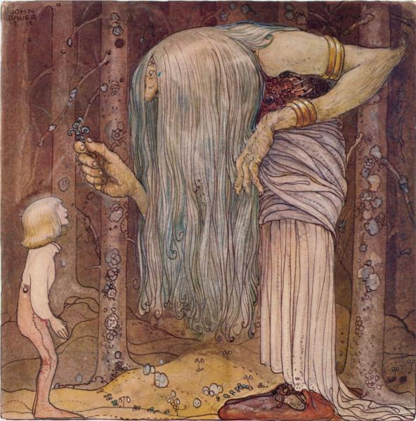 Here is a piece of a troll herb which nobody else but me can find, 1912 - John Bauer