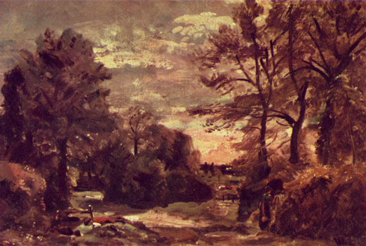 Country road, c.1826 - John Constable