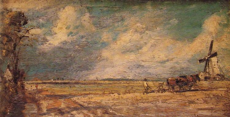 Spring Ploughing, 1821 - Джон Констебл
