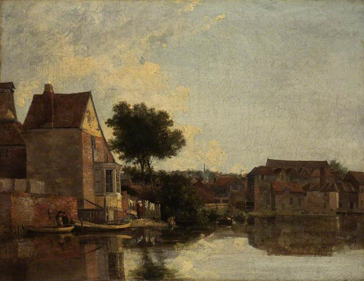 Back of the New Mills, Norfolk - John Crome