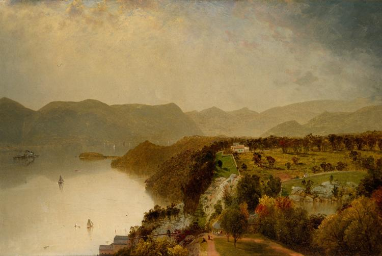 View from Cozzen's Hotel near West Point, N.Y., 1863 - John Frederick Kensett