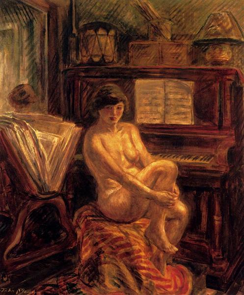 Nude At Piano, 1928 - John French Sloan