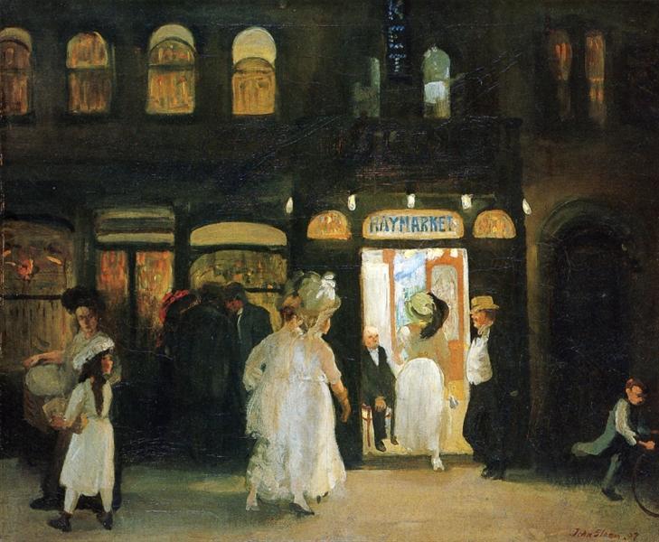 The Haymarket, 1907 - John French Sloan