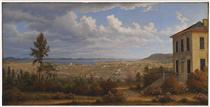 Hobart Town, taken from the garden where I lived - Джон Гловер