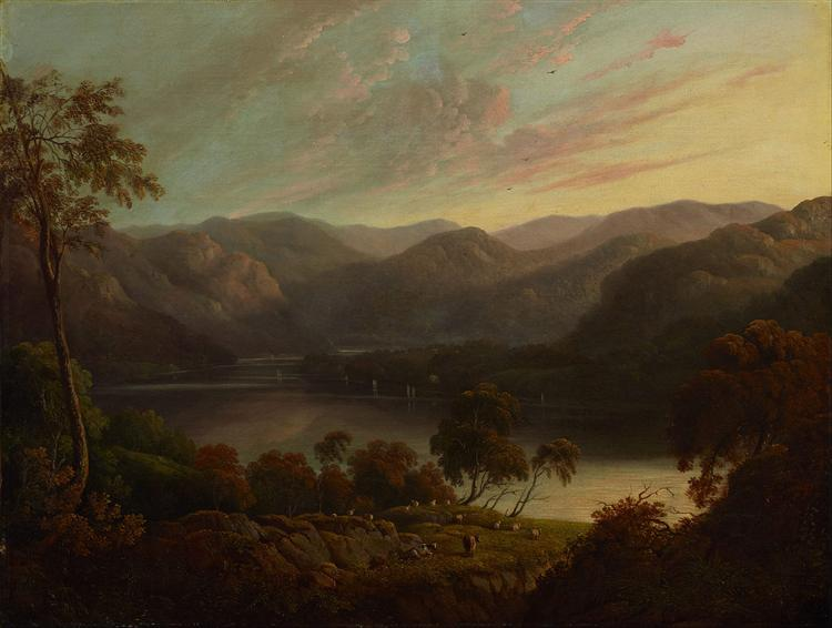 Landscape view in Cumberland, 1820 - Джон Гловер