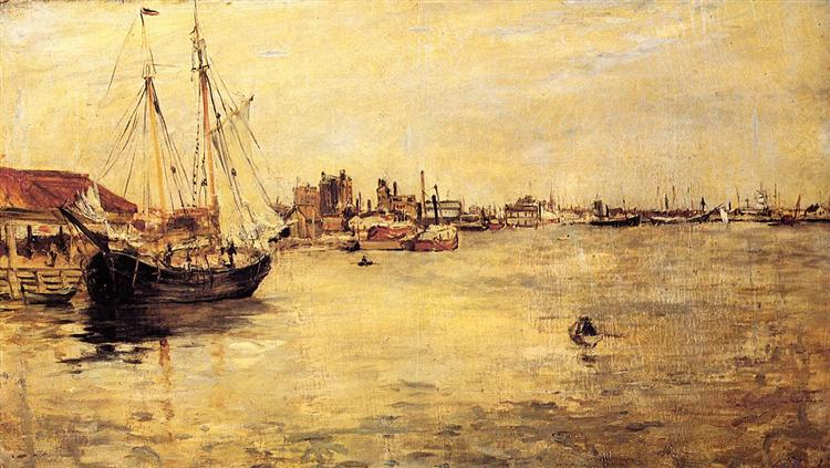 New York Harbor, 1879 - John Henry Twachtman