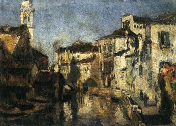 San Trovaso Square, Venice, c.1878 - John Henry Twachtman