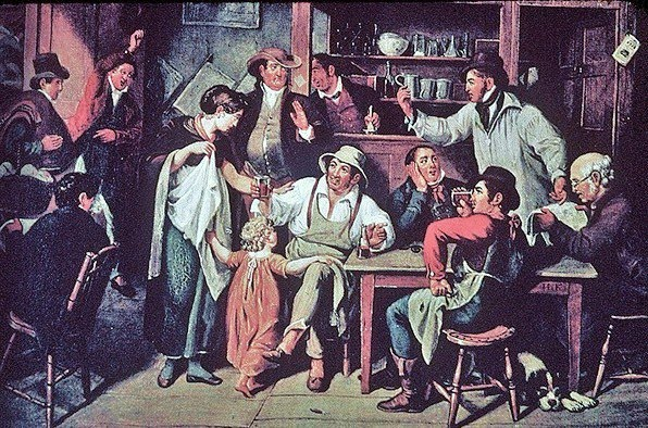The Village Tavern - John Lewis Krimmel