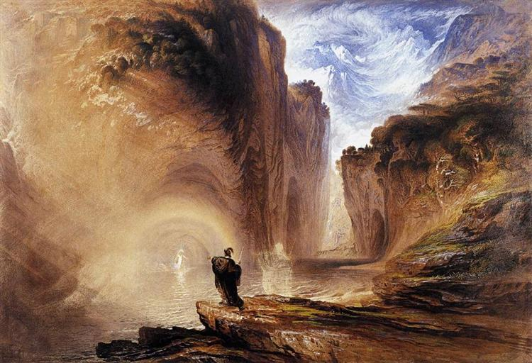 Manfred and the Alpine Witch, 1837 - John Martin