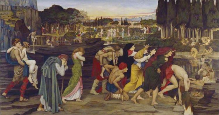 The Waters of Lethe by the Plains of Elysium, 1880 - John Roddam Spencer Stanhope