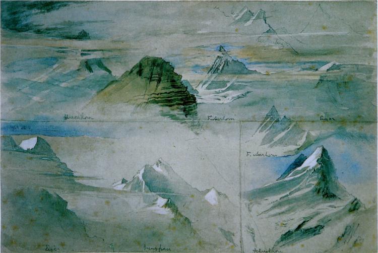 Alpine Peaks Ruskin, 1846 - John Ruskin