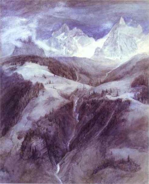 Cascade de la Folie 1849 - John Ruskin