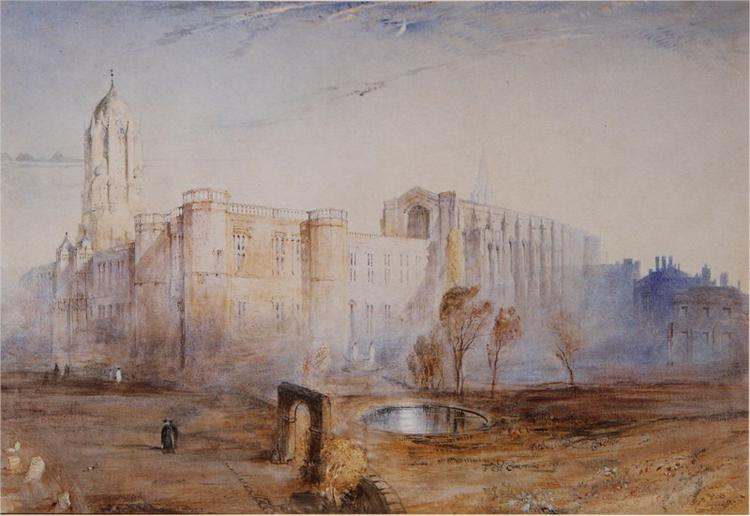 Christ Church from St Aldate, 1842 - John Ruskin
