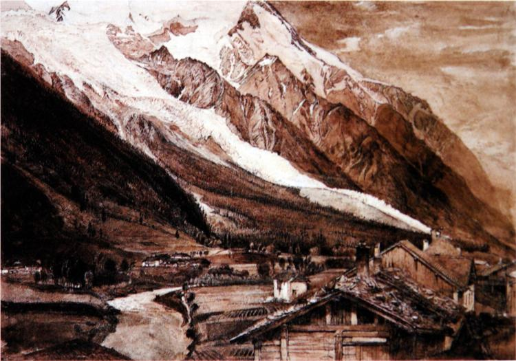 Glacier des Bossons Chamonix 1849 - John Ruskin
