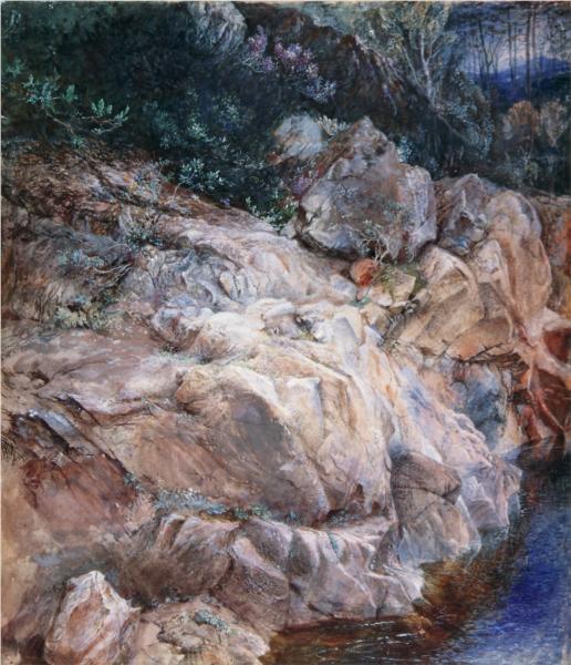 In the Pass of Killiecrankie, 1857 - John Ruskin
