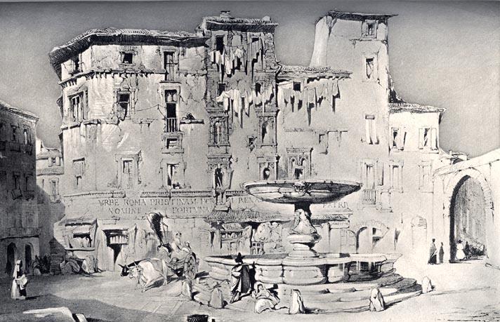 Piazza Santa Maria del Pianto, 1840 - John Ruskin