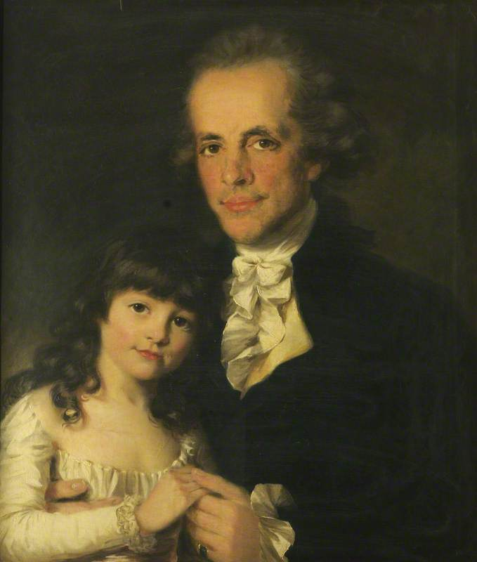Colonel James Capper and His Daughter, 1782