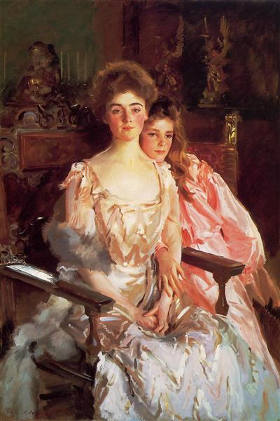 Mrs Fiske Warren (Gretchen Osgood) and her Daughter Rachel, 1903 - John Singer Sargent