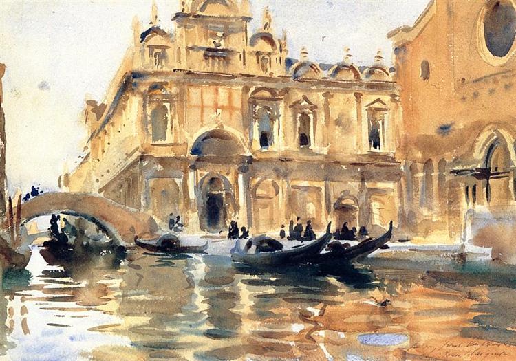 Rio dei Mendicanti, Venice, c.1899 - John Singer Sargent